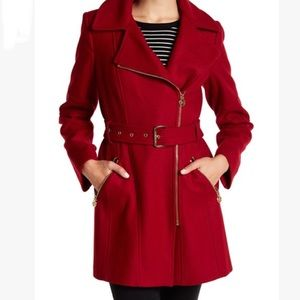 Micheal Kors Asymmetrical Wool Coat